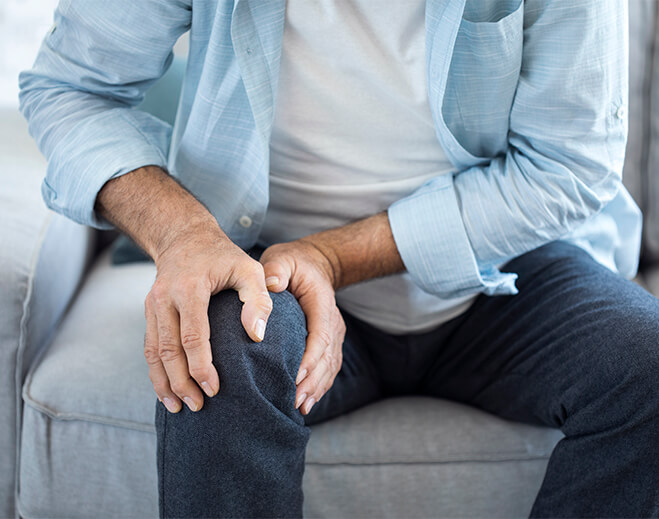 Person in knee pain