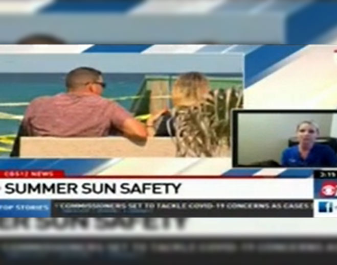 dr-kc-cohen-is-interviewed-for-sun-safety-month-on-cbs-12-news